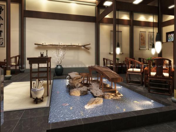 """该项目凝聚""""禅""""的设计理念,中式简约风格,原始的徽派建筑框架作为"""